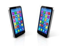 Smartphones exchanging Stock Photos
