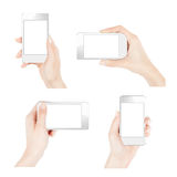 Smartphones in female hands Stock Image