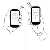 Smartphones gör kommunikation lätt Royaltyfri Foto