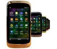 Smartphones genéricos Imágenes de archivo libres de regalías