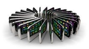 Smartphones generici Immagini Stock