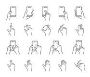 Smartphones gesture icons Royalty Free Stock Images