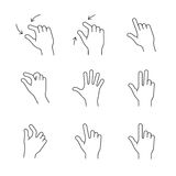 Smartphones gesture icons Stock Photography