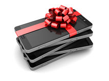 Smartphones gift Royalty Free Stock Photos