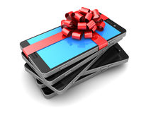 Smartphones gift Royalty Free Stock Photo