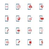 Smartphones Ikonen einfach Stockfoto