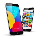 Smartphones moderni dello schermo attivabile al tatto Immagini Stock