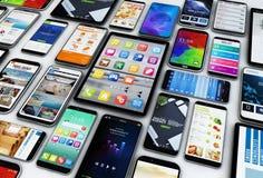 Smartphones och minnestavlor Arkivfoton