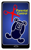 Smartphones and Parental Control Royalty Free Stock Image