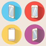 Smartphones set vector illustration