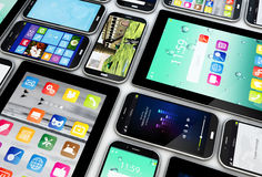 Smartphones and tablets collection Stock Images