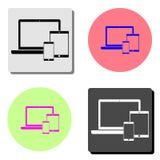 smartphones tablets laptop. flat vector icon vector illustration