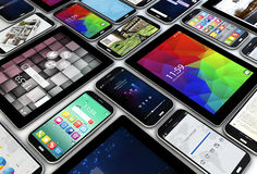 Smartphones and tablets Stock Photos