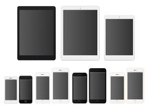 Smartphones and tablets Royalty Free Stock Image