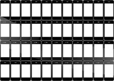 Smartphones texture Stock Images