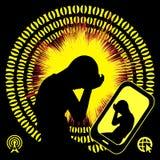 Smartphones wpływają mózg ilustracji