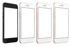 Smartphones złoto, róża, srebro i czerń, Obrazy Stock