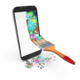 Smartphoneschnittstellen-Konzept des Entwurfes stockfotos
