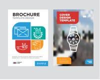 Smartwatch小册子飞行物设计模板 库存图片