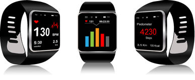 Smartwatch Royaltyfri Illustrationer