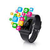 Smartwatch Applications Tasks Concept Royalty Free Stock Photography
