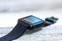 Smartwatch on a bright background royalty free stock photos