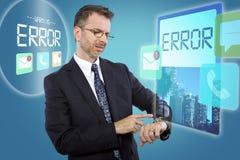 Smartwatch on Businessman Stock Photo