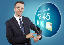 Smartwatch on Businessman Stock Photography