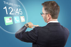 Smartwatch on Businessman Stock Photography