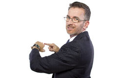 Smartwatch on Businessman Royalty Free Stock Image