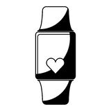 Smartwatch with cardio app Royalty Free Stock Images