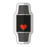 Smartwatch with cardio app Royalty Free Stock Image