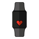 Smartwatch with cardio app Stock Images