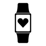Smartwatch with cardio app Stock Photography