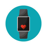 Smartwatch with cardio app Stock Photo