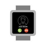 Smartwatch carré illustration de vecteur