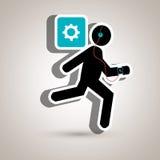 smartwatch courant d'écouteurs de sport Image libre de droits