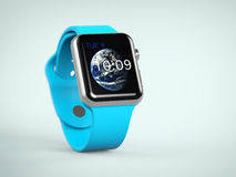Smartwatch. 3d rendering of apple smart watch stock illustration