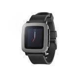Smartwatch del tiempo del guijarro Imágenes de archivo libres de regalías