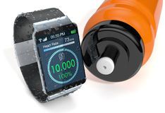 Smartwatch and fitness Stock Images