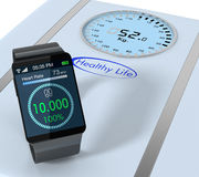 Smartwatch and fitness Royalty Free Stock Photos