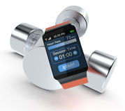 Smartwatch and fitness Stock Image