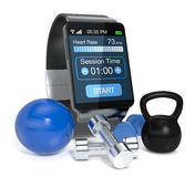 Smartwatch and fitness Stock Photos