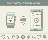 Smartwatch and fitness tracker Stock Photo