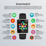 Smartwatch flat design Stock Image