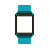 Smartwatch gadget isolated icon Royalty Free Stock Images