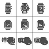 Smartwatch icons Stock Photos