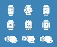 Smartwatch icons Stock Photography
