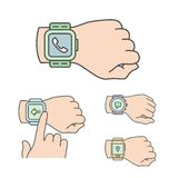 Smartwatch illustrations Stock Image