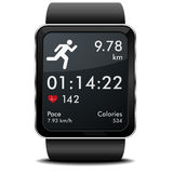 Smartwatch körningskondition Arkivfoton